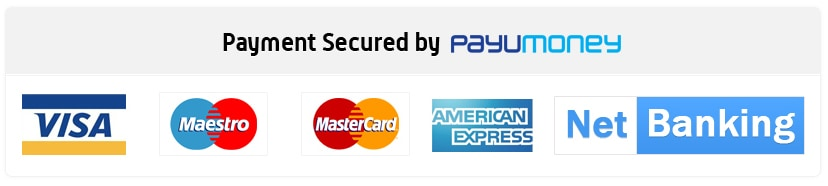Pay via Paytm / Credit / Debit Card / NetBanking / UPI / EMI